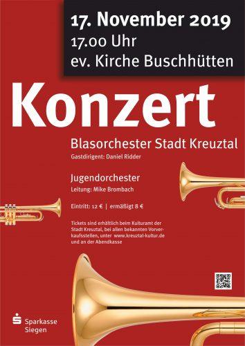 Plakat - Herbstkonzert am 17.11.2019